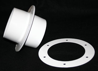 "4"" HydroHut Double Flange Kit"