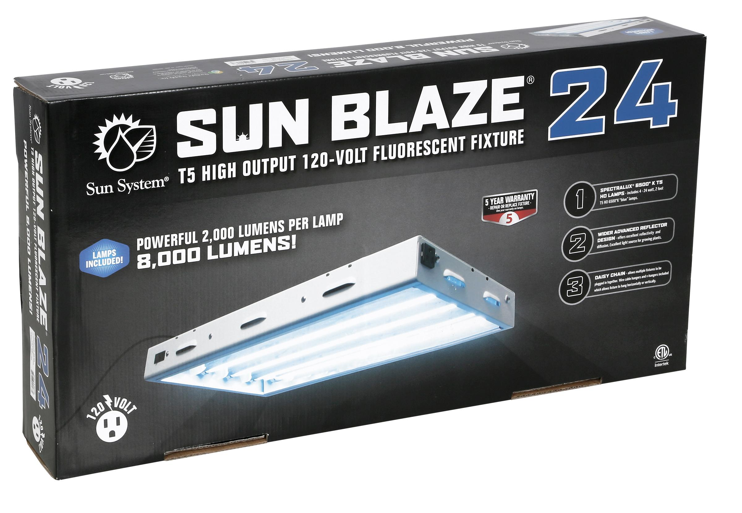Sun Blaze 24 2 Foot 4 Lamp T5 Fluorescent System 120 Volt Tube Light On Fixtures Circuit Diagram Image