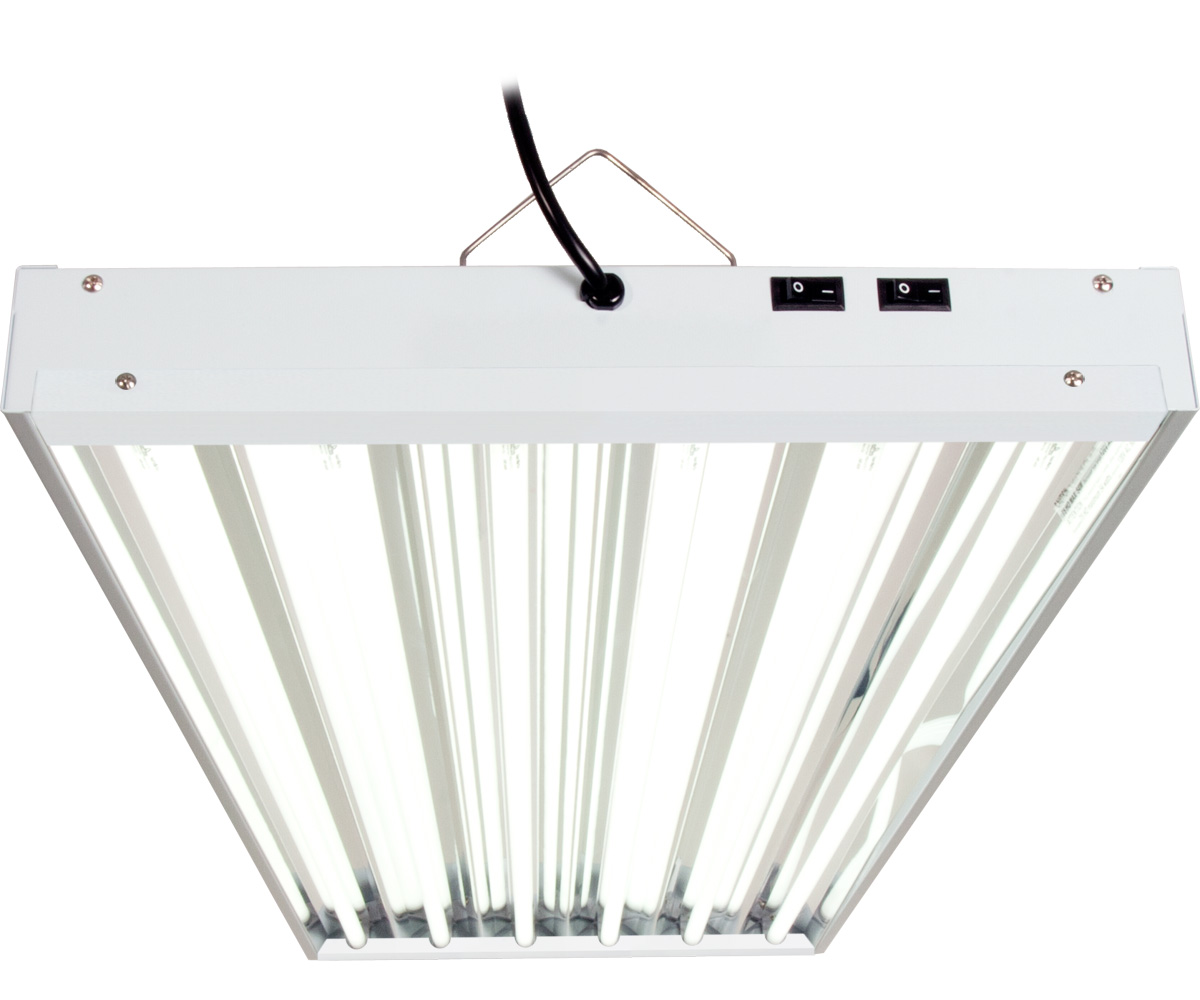6 Fluorescent Light Fixture: AgroBrite T5 324W 4' 6-Tube Fixture With Lamps