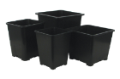 Gro Pro Premium Black Square Pot 7in x 7in x 9in image 2