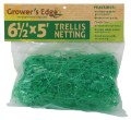 "Grower's Edge Green Trellis Netting 6.5 x 25 Foot 6"" Holes image 1"