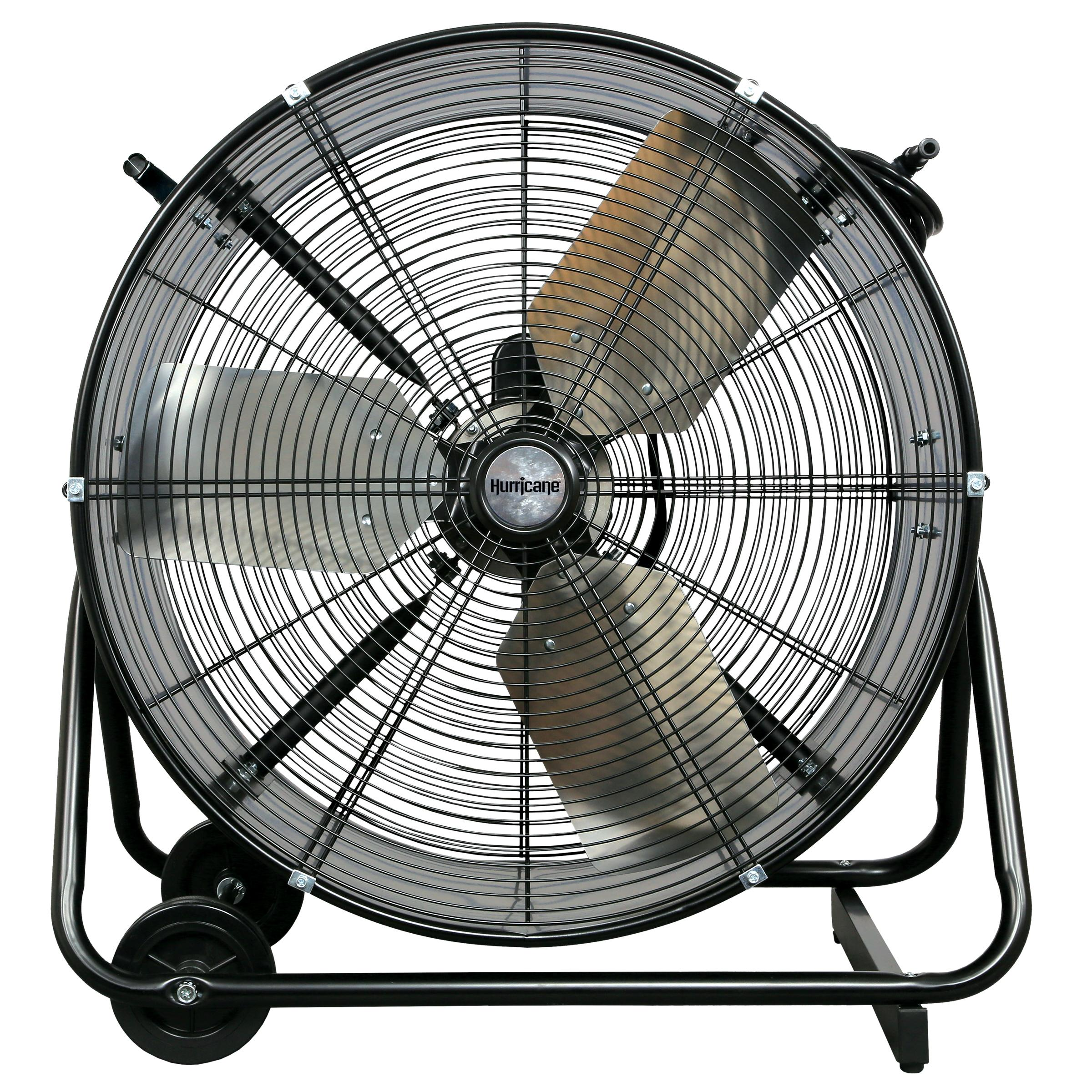Heavy Duty Fan >> Hurricane Pro Heavy Duty Adjustable Tilt Drum Fan 24 In