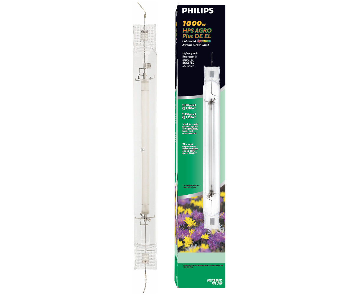 Philips Agro Plus Double Ended High Pressure Sodium Hps Lamp 1000w
