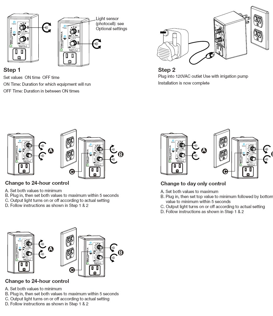 Titan Controls Apollo 2 Cycle Timer With Photocell Two Photocells Wiring Diagram One Light Image 1
