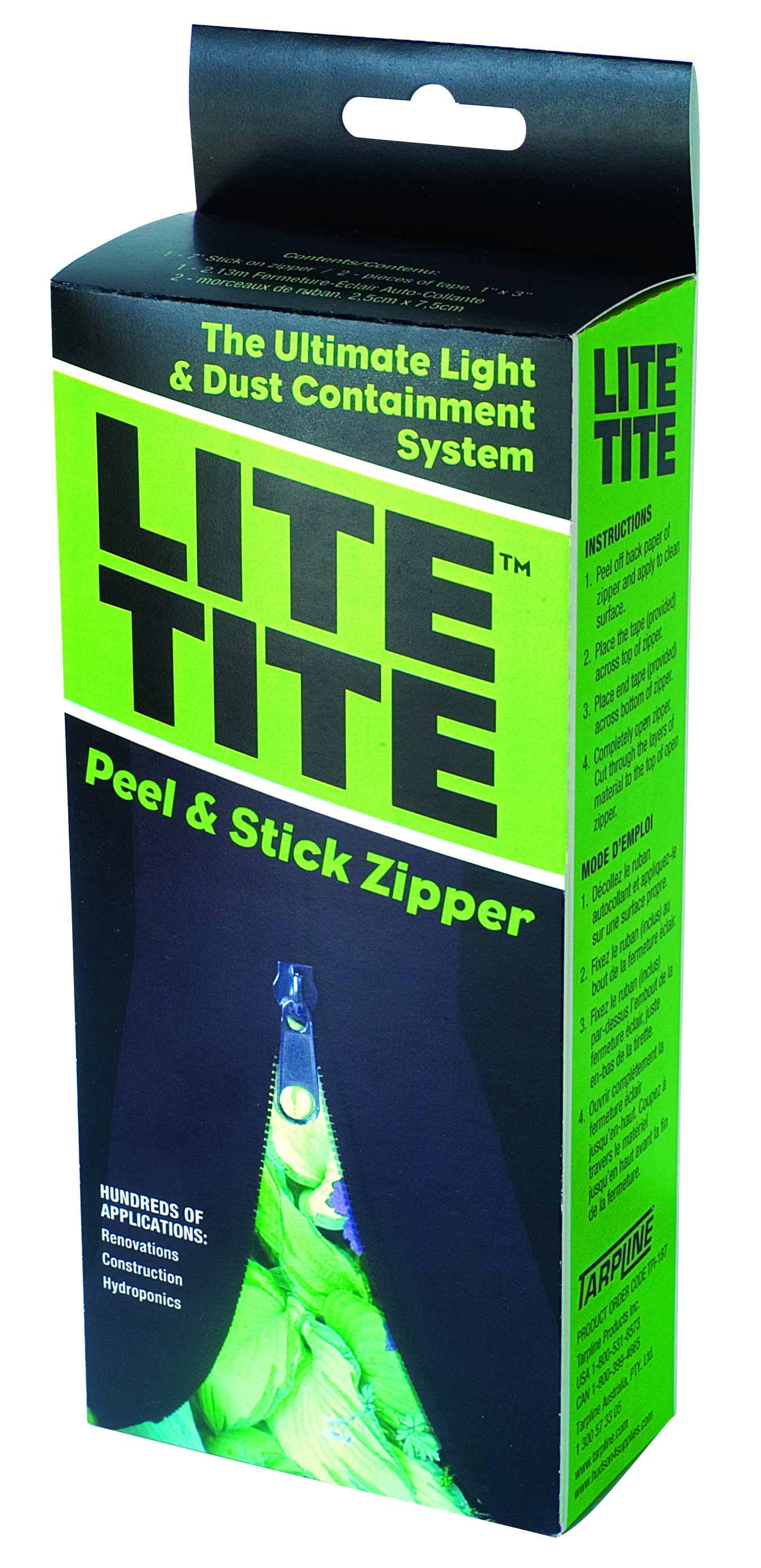 Lite Tite Tarp Zip Up Black