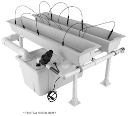 24 Tray Jetstream Hydroponic System with 8 Inch Trays