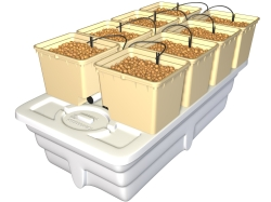 General Hydroponics EuroGrower - 8 Pots Complete