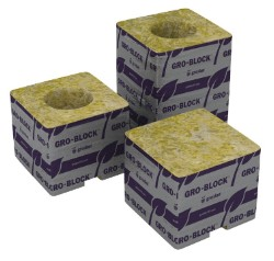 "Grodan 3""x3""x4"" With Hole Case of 256"