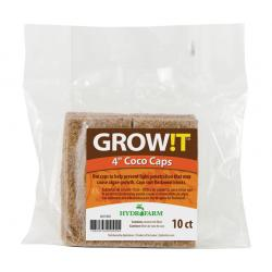 "GROW!T Coco Caps, 4"", pack of 10"
