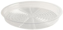 "Gro Pro 15"" Clear Saucer pack of 25"