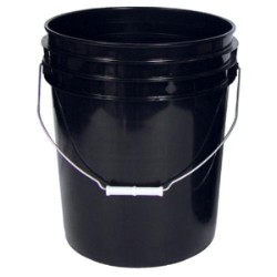 5 Gallon Black Bucket case of 10