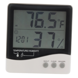 Grower's Edge Large Display Thermometer/Hygrometer