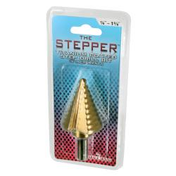 "The Stepper Titanium Step Drill Bit, 1/4"" to 1 3/8"""