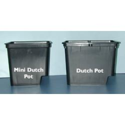 "Grodan Dutch Pot w/2 elbows, Black, 9""H x 12""L x 10""W"
