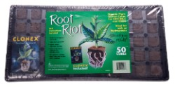 Root Riot 50 Cube Tray with Clonex Gel