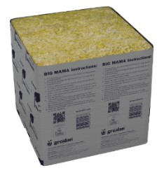 "Grodan Big Mama 8""x8""x8"" Inch, Case of 18"