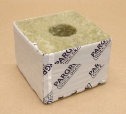 "Pargro Rockwool 4""x4""x2.5"" Block With Hole Case of 216"