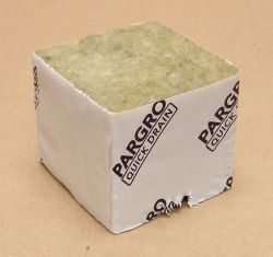 "Pargro Rockwool 3""x3""x2.5"" Block No Hole Case of 192"