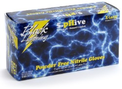 Black Lightning Gloves, Medium, Box of 100