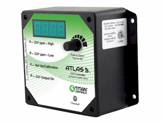 Titan Controls Atlas 3 Day/Night CO2 Monitor/Controller