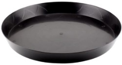 "Gro Pro Black Saucer 16"" case of 35"