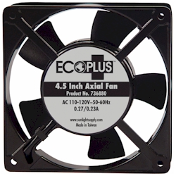 "Ecoplus 4.5"" Axial Fan with cord 112 CFM"