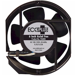 "Ecoplus 6"" Axial Fan  with cord 235 CFM"