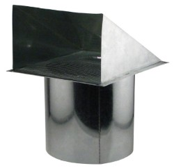 Ideal-Air Wall Vent - Screened 10 Inch