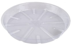 "Bond Clear Plastic Saucer 14"" pack of 25"