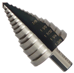 "7/8"" To 1-3/8"" Conical Drill Bit"