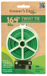 Grower's Edge Twist Tie Dispenser With Cutter - 164 feet