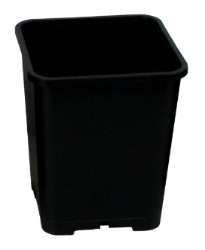 Gro Pro Premium Black Square Pot 7in x 7in x 9in
