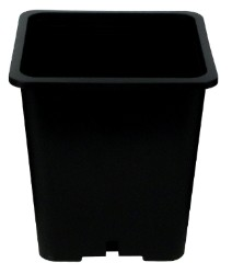 Gro Pro Premium Black Square Pot 9in x 9in x 10.5in case of 100
