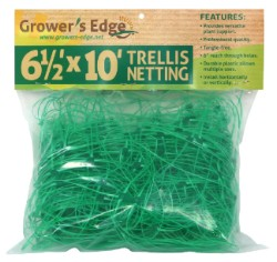 "Grower's Edge Green Trellis Netting 6.5 x 10 Foot 6"" Holes"