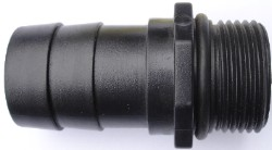 "EcoPlus Pump Fitting 1"" NPT Threaded x 1-1/4"" Barbed Fitting"
