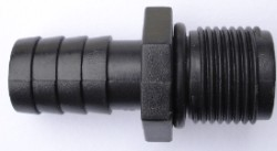 "EcoPlus Pump Fitting 3/8"" NPT Threaded x 1/2"" Barbed Fitting"