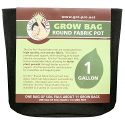 Gro Pro Premium Round Fabric Pot 1 Gallon
