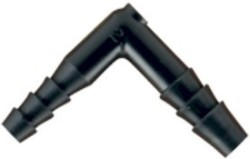 Hydro Flow Barbed Reducer Elbow 1/4in To 3/16in Bulk