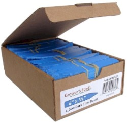 Grower's Edge Plant Stake Labels Dark Blue - Box of 1000pcs