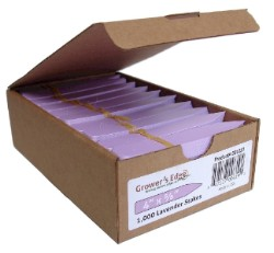 Grower's Edge Plant Stake Labels Lavender - Box of 1000pcs
