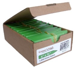 Grower's Edge Plant Stake Labels Green - Box of 1000pcs