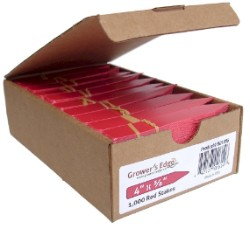 Grower's Edge Plant Stake Labels Red - 1000/Box