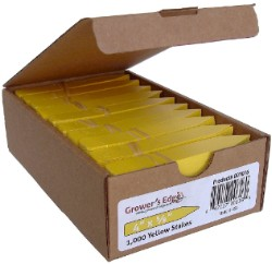 Grower's Edge Plant Stake Labels Yellow - Box of 1000pcs