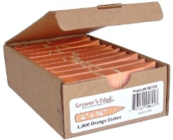 Grower's Edge Plant Stake Labels Orange - Box of 1000pcs