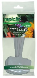 "Luster Leaf T Label Plant Markers 6"" Pack of 10"
