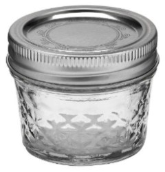 Ball Regular Mouth Quilted Crystal Jelly 4oz Jar