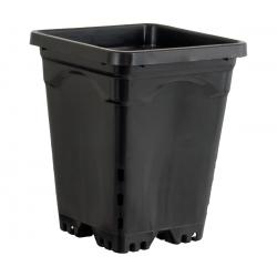 "Active Aqua 6"" x 6"" Square Black Pot, 8"" Tall, case of 50"