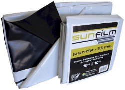 SunFilm Black & White Panda Film 10ft X 10ft Sheet 5.5 mil
