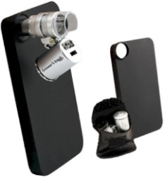 Grower's Edge iPhone 4/4S Case W/ LED Pocket Microscope - 60x