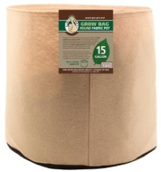 Gro Pro Premium 15 Gallon Round Fabric Pot-Tan